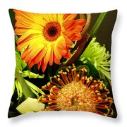 Autumn Flower Arrangement Throw Pillow