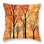 Autumn Forest Abstract  Throw Pillow