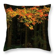 Autumn Forest Leaves Throw Pillow