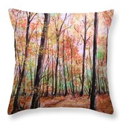 Autumn Forrest Throw Pillow