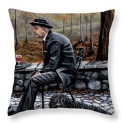 Autumn Friends Throw Pillow