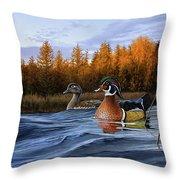 Autumn Front Throw Pillow