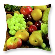 Autumn Fruits. Throw Pillow