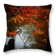 Autumn Gate Throw Pillow
