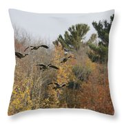 Autumn Geese Throw Pillow