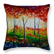 Autumn Glade Throw Pillow