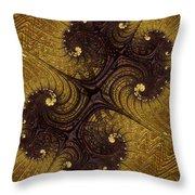 Autumn Glows In Gold Throw Pillow