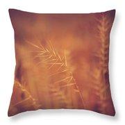 Autumn Grass Throw Pillow