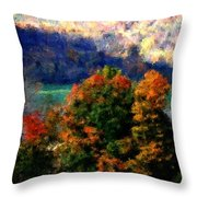 Autumn Hedgerow Throw Pillow