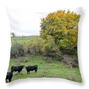 Autumn Herd Throw Pillow