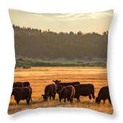 Autumn Herd Throw Pillow