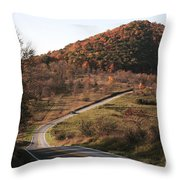 Autumn Hill Near Hancock Maryland Throw Pillow