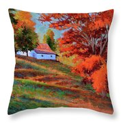 Autumn Hillside Throw Pillow
