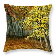 Autumn Hollow I Throw Pillow