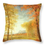 Autumn In America Throw Pillow