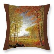 Autumn In America Throw Pillow