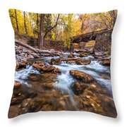 Autumn In American Fork Canyon Throw Pillow