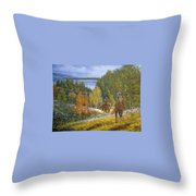 Autumn In Big Bear, 18x24, Oil, '08 Throw Pillow