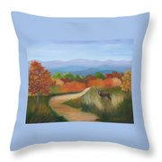 Autumn In Blue Ridge Mountains Virginia Throw Pillow