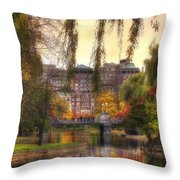 Autumn In Boston Garden Throw Pillow