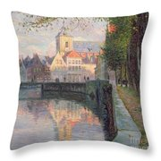 Autumn In Bruges Throw Pillow by Omer Coppens
