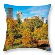 Autumn In Central Park 2 Throw Pillow