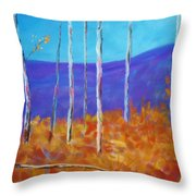 Autumn In Cloudcroft Throw Pillow
