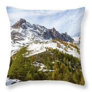 Autumn In French Alps - 18 Throw Pillow