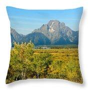 Autumn In Grand Teton National Park Throw Pillow