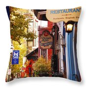 Autumn In Jim Thorpe Throw Pillow