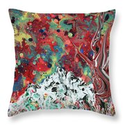 Autumn In Mt. Bascobert National Forest Throw Pillow