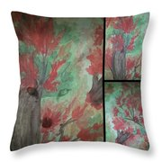 Autumn In My Soul Triptych Throw Pillow