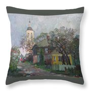Autumn In Old City Throw Pillow