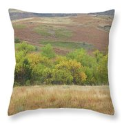 Autumn In Slope County Throw Pillow