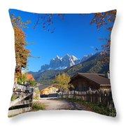 Autumn In South Tyrol Throw Pillow