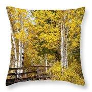 Autumn In Teton National Park Throw Pillow
