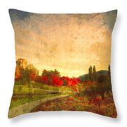 Autumn In The City 2 Throw Pillow