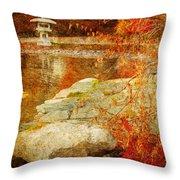 Autumn In The Gardens Throw Pillow