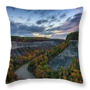 Autumn In The Gorge Throw Pillow
