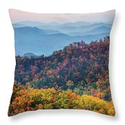 Autumn In The Great Smoky Mountains Throw Pillow