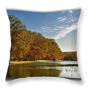 Autumn In The Hill Country Throw Pillow