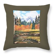 Autumn In The Mountans Throw Pillow