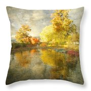 Autumn In The Pond Throw Pillow
