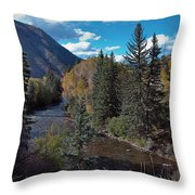 Autumn In The Rockies Throw Pillow