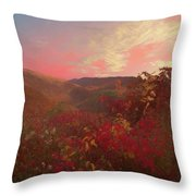 Autumn In The Rolling Hills Throw Pillow