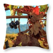 Autumn In The Wine Country Throw Pillow