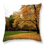 Autumn In Turin, Italy Throw Pillow