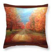 Autumn Dream Throw Pillow by J Reynolds Dail