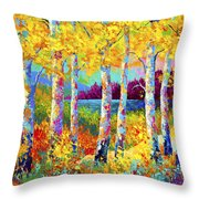 Autumn Jewels Throw Pillow