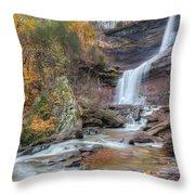 Autumn Kaaterskill Falls Square Throw Pillow